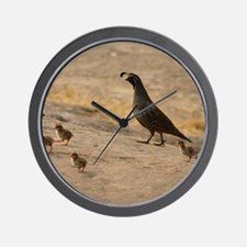 quailfamilycalendar Wall Clock