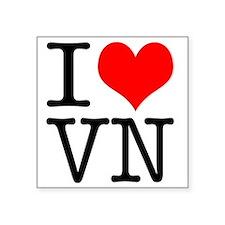 "I Heart VN Square Sticker 3"" x 3"""