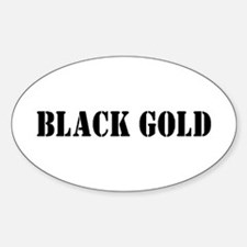 Black Gold Oval Decal