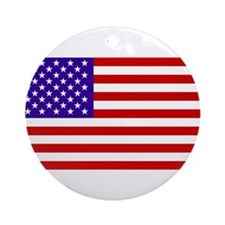 Cute Old glory Ornament (Round)