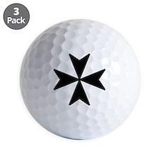 Maltese Cross Symbol Golf Ball