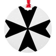 Maltese Cross Symbol Ornament