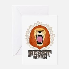 Lion Beast Mode MMA Cross Fit Crossfit Gym Greetin