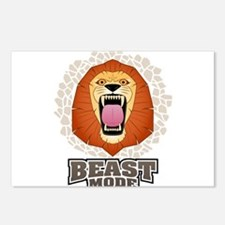 Lion Beast Mode MMA Cross Fit Crossfit Gym Postcar