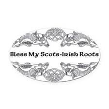 My Scots-Irish Roots Oval Car Magnet