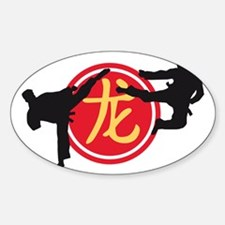Chinese sign dragon Sticker (Oval)