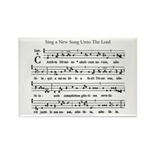 Gregorian Chant Rectangle Magnet