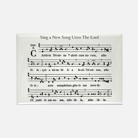 Gregorian Chant Rectangle Magnet
