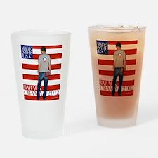 2nd corrected BarackTshirt copy Drinking Glass