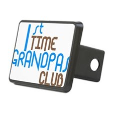 1sttimegrandpasclubblue Rectangular Hitch Cover