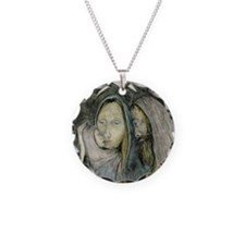 Holy Family Christmas Necklace Circle Charm