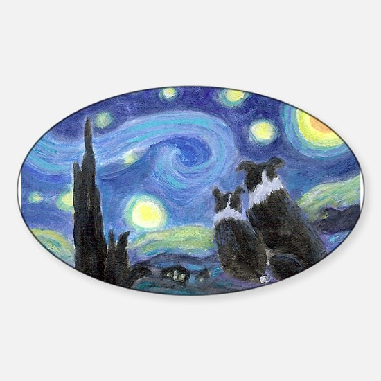 Starry Night Border Collie Decal