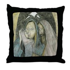 Holy Family Christmas Throw Pillow