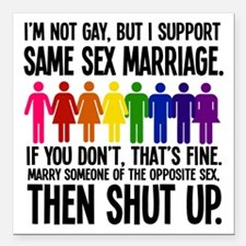 """thenshutup Square Car Magnet 3"""" x 3"""""""