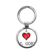 I-LOVE-AL-GORE Round Keychain