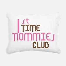 1sttimemommiesclubpink Rectangular Canvas Pillow