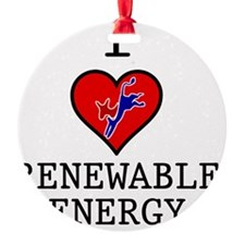 I-LOVE-RENEWABLE-ENERGY Ornament