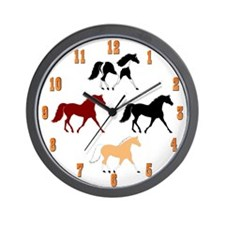 Cute Horses Wall Clock