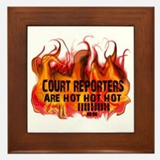 court_reporters_are_hot Framed Tile