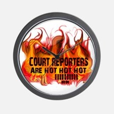 court_reporters_are_hot Wall Clock