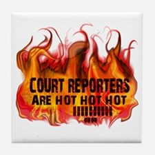 court_reporters_are_hot Tile Coaster