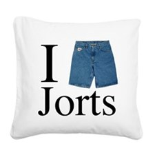 I heart jorts Square Canvas Pillow