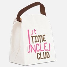 1sttimeunclesclubpink Canvas Lunch Bag