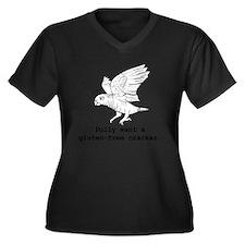 gluten-free Women's Plus Size Dark V-Neck T-Shirt