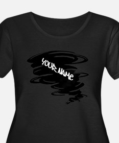 Black Tornado Plus Size T-Shirt