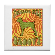 Groovy Pointer Tile Coaster