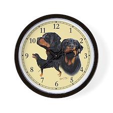 Rottweiler Clock Wall Clock