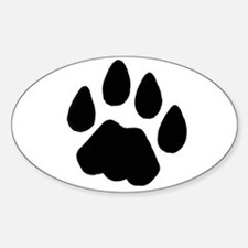 Cougar Track Oval Decal