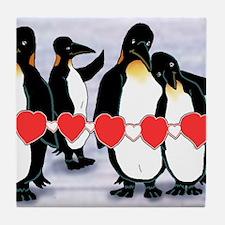 Tile Coaster 2 of 4 penguin heart string set