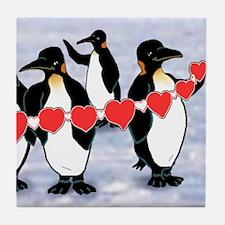 Tile Coaster 4 of 4 penguin heart string set