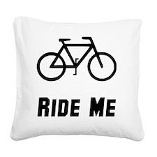 Ride Black Square Canvas Pillow