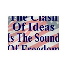 Clash of Ideas 35 dk bl  Flags mo Rectangle Magnet