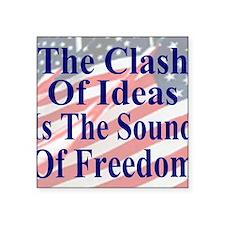 "Clash of Ideas 35 dk bl  Fl Square Sticker 3"" x 3"""