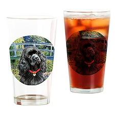 J-ORN-Bridge-Cocker-black Drinking Glass