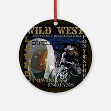 wild west Round Ornament