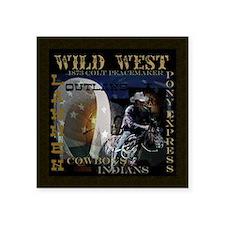 """wild west Square Sticker 3"""" x 3"""""""