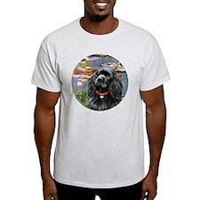 J-ORN-Lilies2-Cocker-black T-Shirt