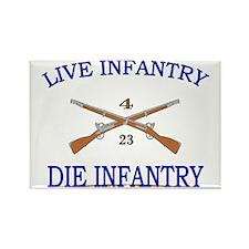4th Bn 23rd Infantry Cap3 Rectangle Magnet