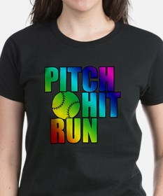 pitch hit and run Tee