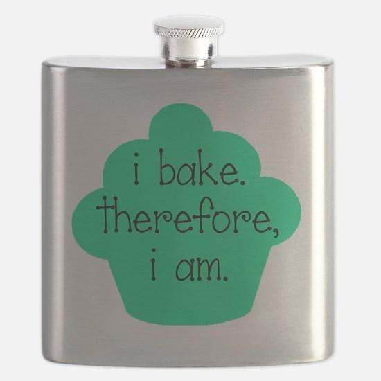 dark i bake cupcake Flask