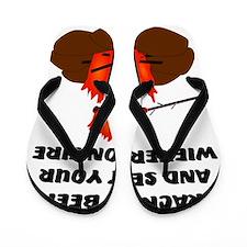 Wiener On Fire Flip Flops