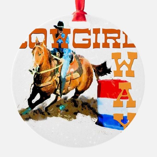 cowgirl way 2 Ornament