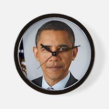 obama-official-portrait-closeup Wall Clock