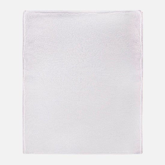 Lone frank white Throw Blanket