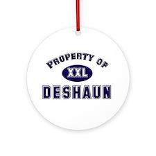 Property of deshaun Ornament (Round)