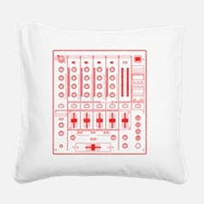 mixer-lrg-red-worn Square Canvas Pillow